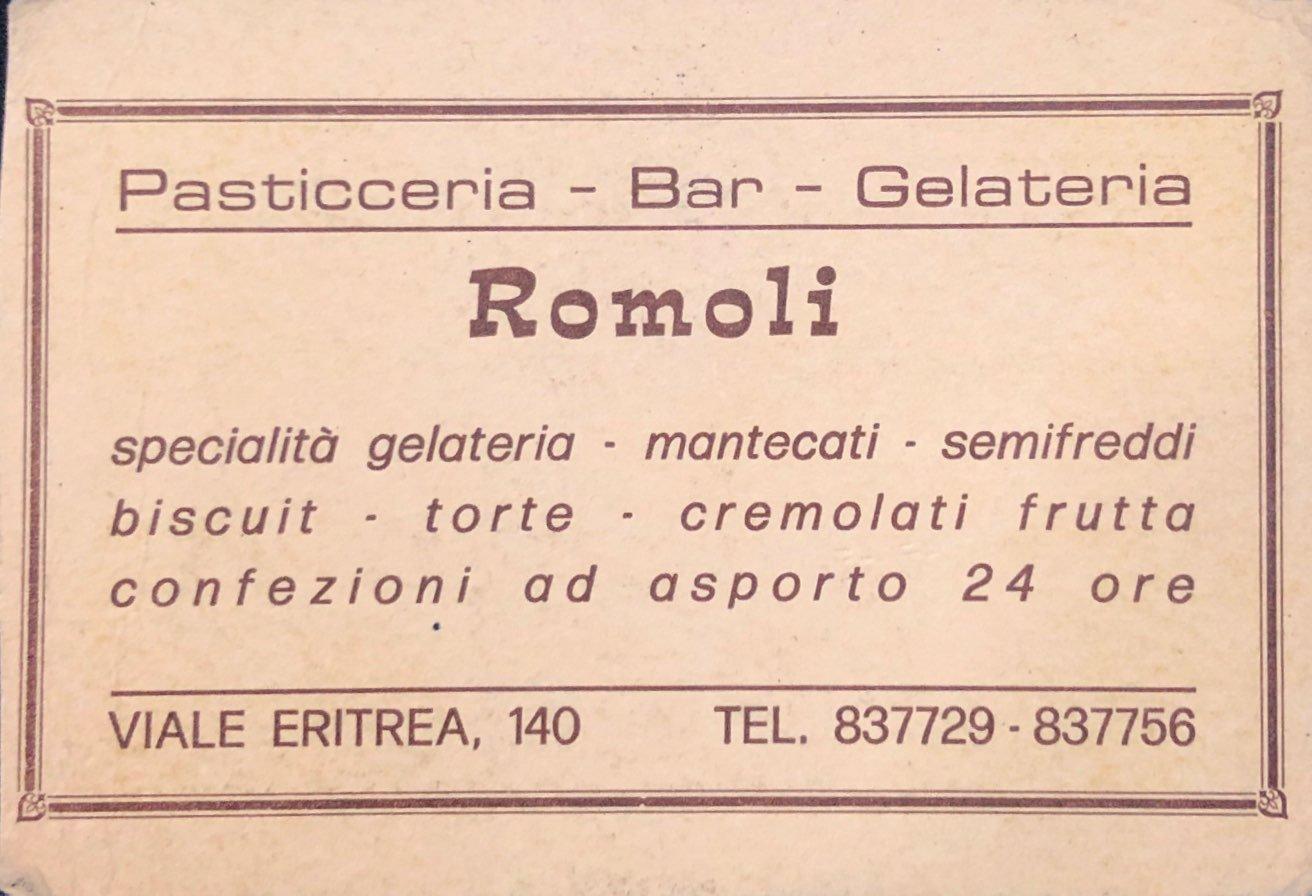 Articoli storici Bar Romoli Roma (2) -Roma