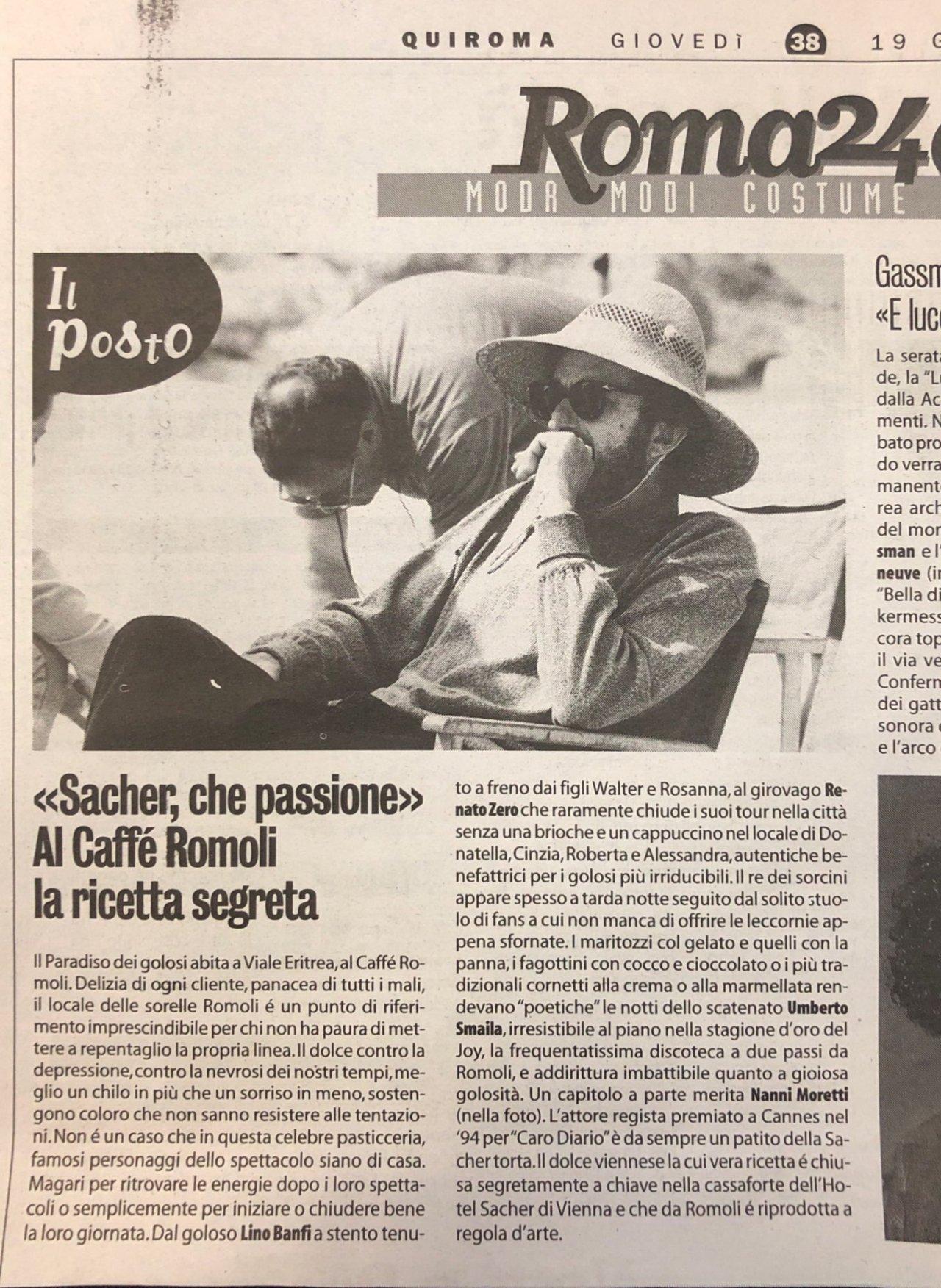Articoli storici Bar Romoli Roma (4) -Roma
