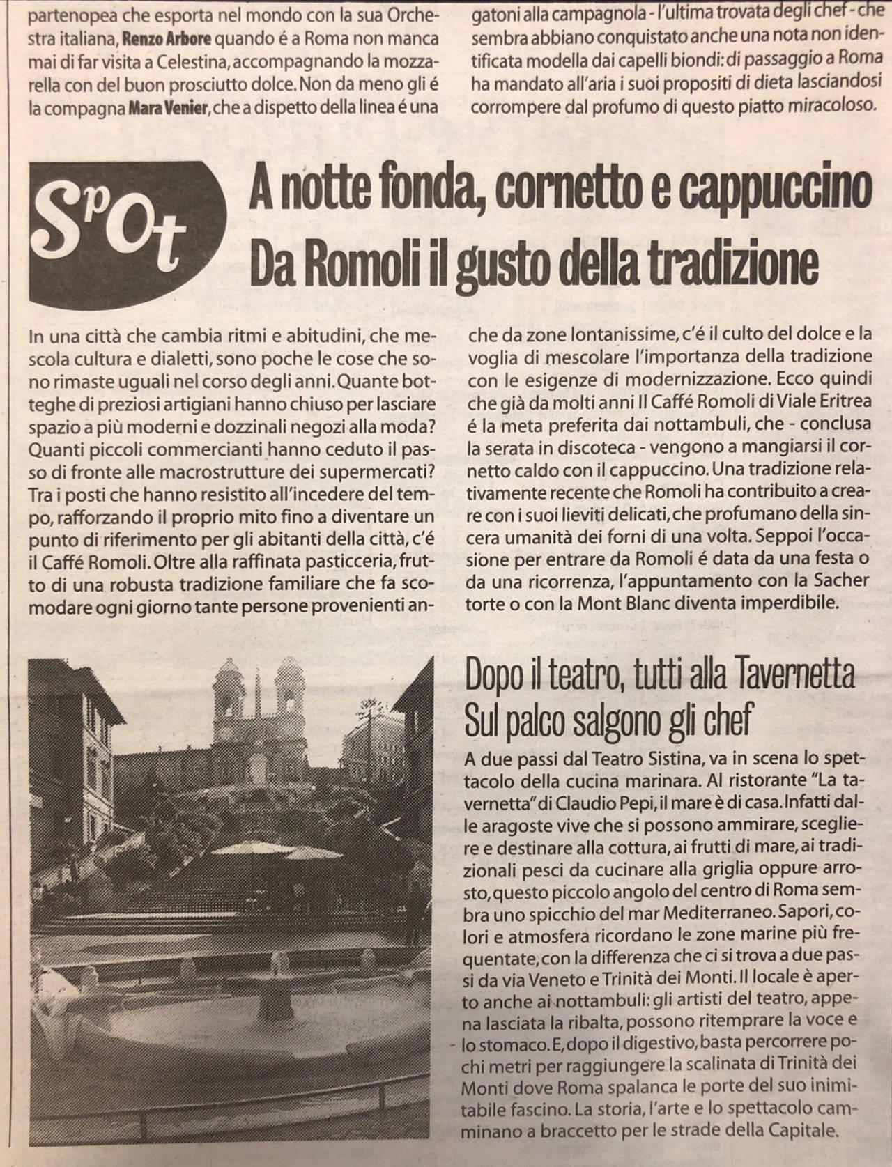 Articoli storici Bar Romoli Roma (5) -Roma